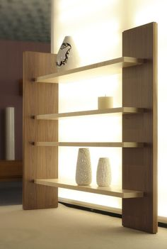  3401 - Cartesia - Open bookcase with 4 shelves made of maple and walnut wood, here in the natural finish. Size: L 212 W 55 H 190 Home Decor Furniture, Wood Furniture, Diy Home Decor, Furniture Design, Furniture Stores, Bookshelf Design, Wall Shelves Design, Diy Shelving, Corner Shelves