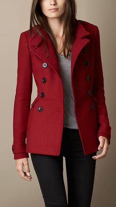 Beautiful red coat, I have one just longer length..
