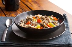 Mmmm, Slow Cooker Chicken and Wild Rice Stew -- so comforting. Get the recipe from our newsletter.