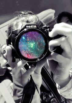 Nikon splash of color on lens