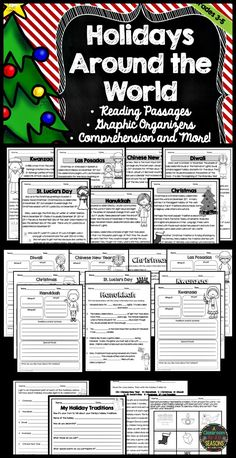 This Holidays Around the World Unit is perfect for students in upper elementary! Fun activities include reading comprehension, graphic organizers and many writing ideas.