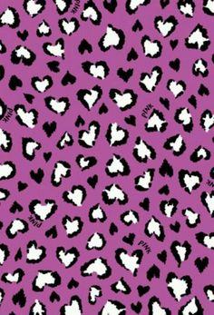 PINK purple leopard heart background