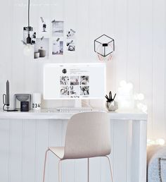 Declutter your work area & keep things neutral. You can't go wrong with black & white in your Rising Barn.
