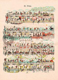 """""""etude 81"""" sheet music art"""
