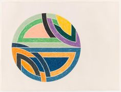 From Burning in Water, Frank Stella, Sinjerli Variation II Offset lithograph and screenprint on Arches Cover, 40 × 50 in Frank Stella Art, Church Logo, Chicago Cubs Logo, Abstract Expressionism, Abstract Art, American Artists, Screen Printing, Original Artwork, Artsy