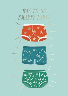 greeting cards - Smarty underpants by Itsy Belle Studio