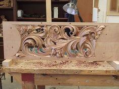 Художня різьба по дереву | VK                                                                                                                                                                                 More Wood Carving Designs, Wood Carving Art, Chip Carving, Got Wood, Art Carved, Wood Slats, Wooden Art, Wood Engraving, Wood Sculpture