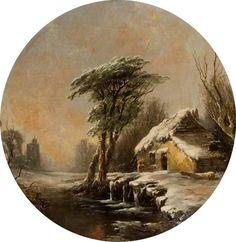 Winter Scene  Alfred Montague (1832–1883)  Laing Art Gallery