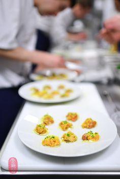 raw scallop, sea urchin, mahogany clam