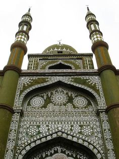 """Turpan's Green Mosque Turpan is located in the center of the XinJiang province in an area known as the """"Turpan Depression"""", 328ft. below sea level, the lowest and the hottest place in all of China."""