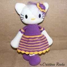 Cute doll Amigurumi doll crochet doll by cutetoysbycristina