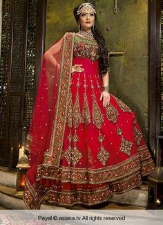 payal-26 | Asiana.tv beautiful red anarkali