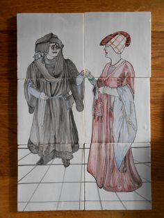 middeleeuws echtpaar Painting, Art, Art Background, Painting Art, Kunst, Gcse Art, Paintings, Painted Canvas, Art Education Resources
