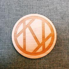 Kalopsia's logo on wood by @uncoverlab Edinburgh  #logo #lasercutting #design #wood #edinburgh #textiles #digital #collective by kalopsiac