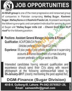 Jobs Opportunities in Al Shafi Group 1st January 2017