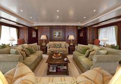 Luxurious living aboard Superyacht Paraffin