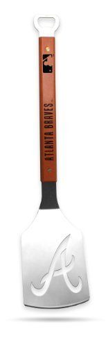 Sportula Products 7018942 Atlanta Braves Sportula by SPORTULA PRODUCTS. $23.94. Custom heat-stampled lettering. Unique laser-cut design. Heavy-duty stainless steel. Hard maple handles with durable brass rivets. convenient bottle opener. The Sportula is a heavy duty stainless steel grilling spatula that is perfectly designed for the Ultimate Tailgater.