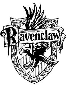 harry potter hogwarts house crests black and white - Google Search