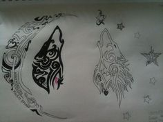 wolf couple tattoos - Google Search