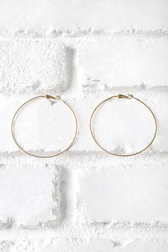 Oversized Gold Hoop Earrings
