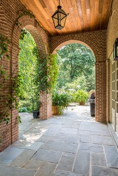 Outdoor Photos Tiled Porch Design Ideas, Pictures, Remodel, and Decor - page 4