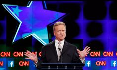 Jim Webb speaks during the first official Democratic candidates debate of the 2016 presidential campaign in Las Vegas on October 13.  Webb, 69, stood out as noticeably more moderate than his main competition for the party's nod, former Secretary of State Hillary Clinton and Vermont Sen. Bernie Sanders