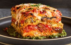 Vegan Grilled Garden Vegetable Lasagna With Puttanesca Sauce - Food – Forward.com