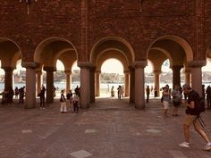 Yard of Stockholm City Hall Stockholm City, Stockholm Sweden, Places To Travel, Around The Worlds, Europe, Architecture, Beautiful, Bon Voyage, Arquitetura
