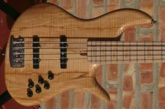 Fbass VF5 - Flamed Ash Body / Bolt-On Maple Neck / 21-fret Maple Board with matching block inlay - TODAY 4/18/14 ONLY $2,999 at Luthiers Access Group...