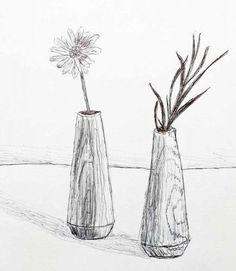 Zeichnung Vasen