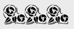 """Mackintosh frieze stencil - Rose motif. Stencil made from durable 125-micron polyester film. Size of Rose design 35cm x 11cm. Actual size of stencil approx 22cm x 45cm. Free """" How to stencil information sheet included with all stencils. Price £8.95."""