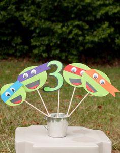 Teenage Mutant Ninja Turtles Party Centerpiece Table Decoration Party Favor