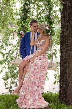 свадебное платье #pink #dress #wedding
