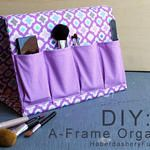 Tutorial: Fold-up A-frame organizer