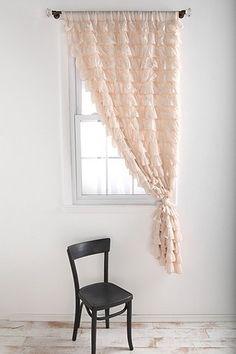 Waterfall Ruffle Curtain  Urban Outfitters
