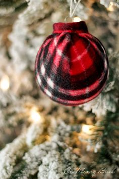 Craftberry Bush: 25 Days of Christmas - Plaid Scarf Ornament Tutorial