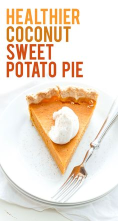 This healthier sweet potato pie is a perfect Thanksgiving alternative to pumpkin pie.