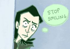 "The fabulous comic ""Loki and the Loon"" If you haven't read it and you're a Loki/Tom fan: DO IT. NOW. Haha no but seriously it's frickin awesome. Click through to get to the tumblr page :)"