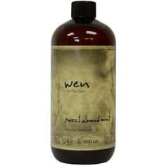 Wen Sweet Almond Mint Cleansing 16-ounce Conditioner ($30) ❤ liked on Polyvore featuring beauty products, haircare, hair conditioner, brown, hair cleansing conditioner, hair one cleansing conditioner and sulfate free hair care