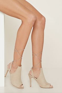 e29 Lace-Up Cutout Booties - New Arrivals Shoes - 2000170475 - Forever 21 EU English