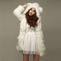 Material: Fleece Polyester Package include: 1 Coat Color: Beige/Black  4 Sizes available: Tag Asian
