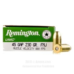 Remington 45 GAP Ammo - 500 Rounds of 230 Grain MC Ammunition #45GAP #45GAPAmmo #Remington #RemingtonAmmo #Remington45GAP #MCAmmunition