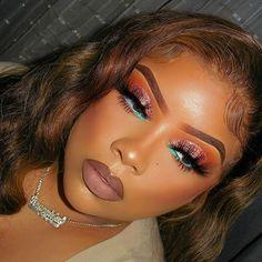 Makeup For Black Skin, Edgy Makeup, Glamour Makeup, Black Girl Makeup, Cute Makeup, Girls Makeup, Pretty Makeup, Makeup Goals, Insta Makeup