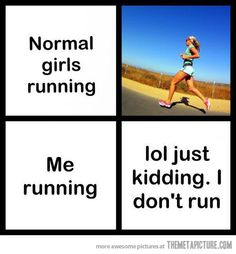 But mostly because there are no pictures of me running. I intended to keep I that way.