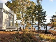 New cottage & guest house on private peninsula with 270 degree views.