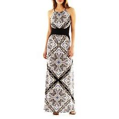jcpenney.com | London Style Collection Print Maxi Dress