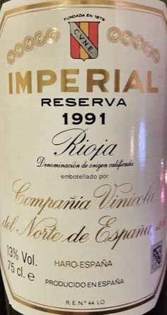 C.V.N.E  Imperial Reserva 1991 - Bodegas CVNE - Haro - La Rioja, Spain