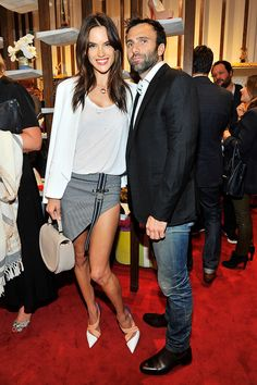 If we had to pick a couple who looks like they're always having fun — traveling the world, taking silly photos, getting cozy on the red carpet — we would choose Victoria's Secret Angel Alessandra Ambrosio and her partner, Jamie Mazur. The couple, who have two children together and have been engaged since 2008 and together since 2005, is inseparable, often hitting the red carpet together and sharing lots of pictures of their blissful family life on social media.