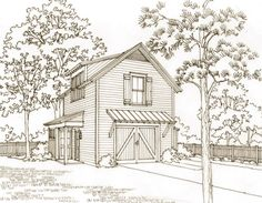 Our Town Plans is a collection of high quality, pre-designed house plans inspired by America's rich architectural heritage. Garage Apartment Plans, Garage Apartments, Garage Guest House, Garage Studio, Garage Loft, Garage Addition, Dream Properties, Our Town, Shed Plans