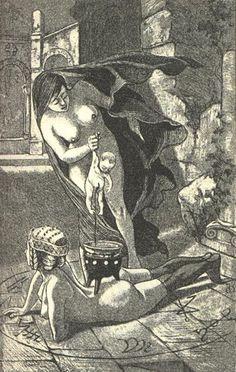 "Martin Van Maele Illustrations to Jules Michelet's ""La Sorcière"""